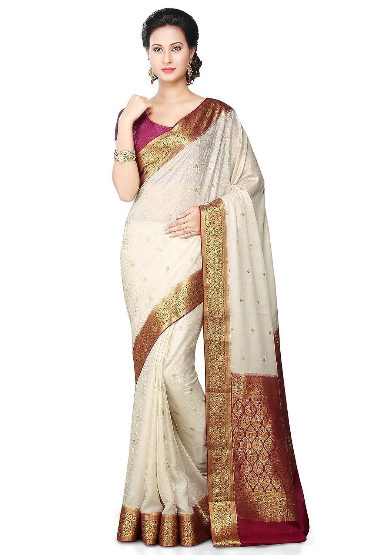 Utsav fashion shopping bag - Utsav Fashion Silk Saree Shu299_off White Amazon In Clothing Accessories