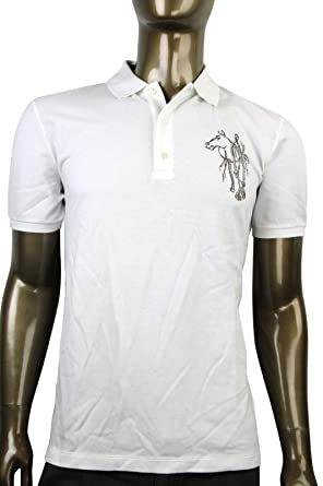 d490c121d85 Gucci Embroidered White Cotton Slim Fit Horse Polo Shirt 338567 9000 (3XL)