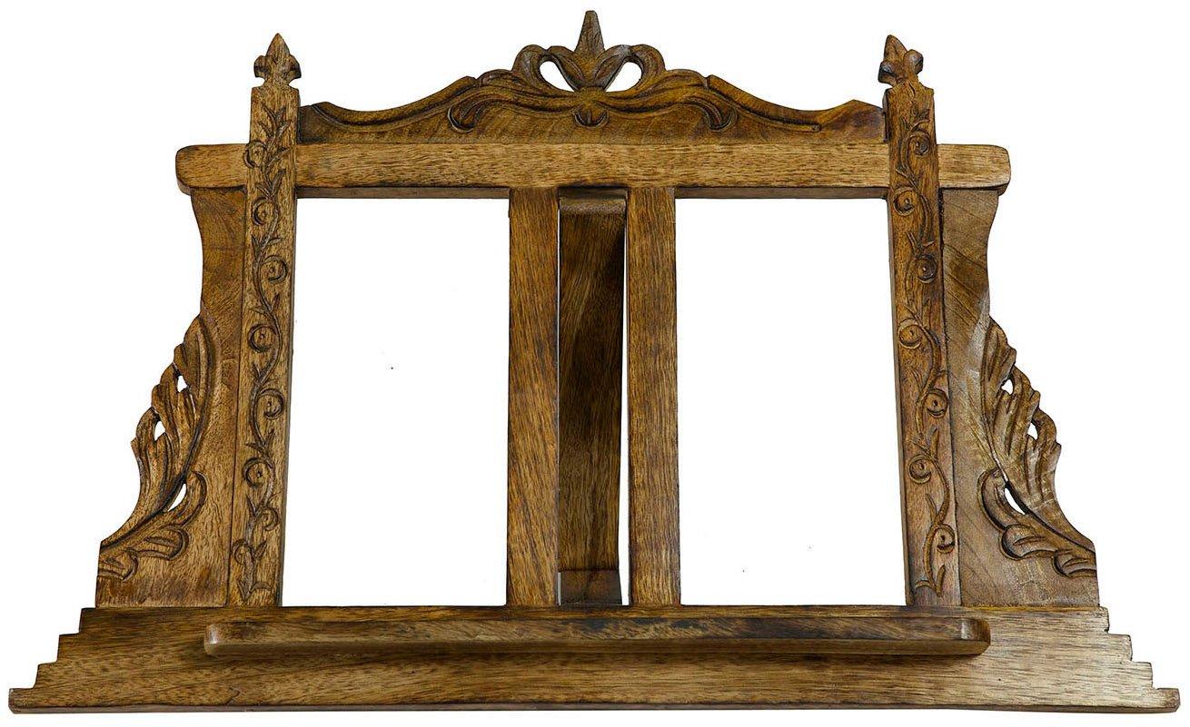 Leggio da appoggio in legno finitura noce L57xPR7xH38 cm Biscottini