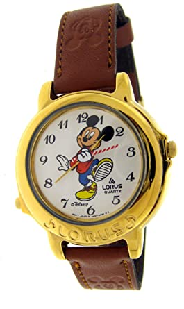 "Lorus Unisex Mickey Mouse Musical ""Band-leader"" Animated Quartz Analog ..."