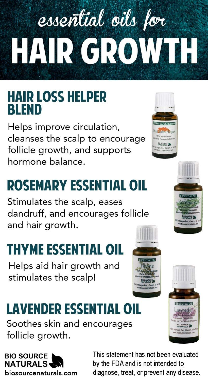 Hair Loss Helper Essential Oil Blend Aromatherapy - with Essential Oils of  Lavender, Cedarwood, Red Thyme, Rosemary 43.43 oz / 143 ml Bottle