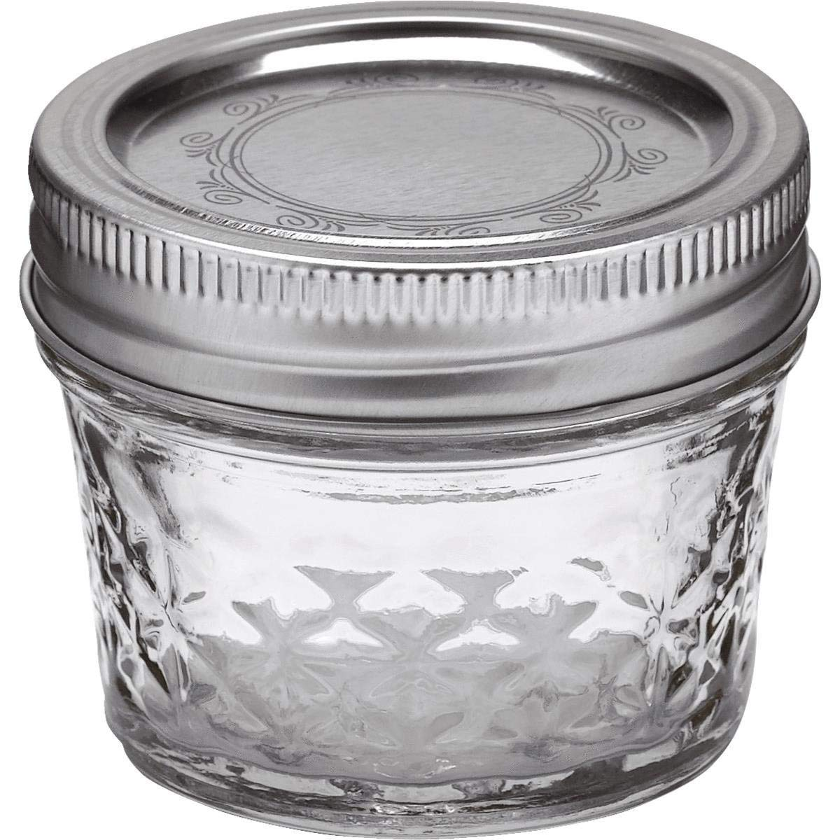 Ball 4-Ounce Quilted Crystal Jelly Jars with Lids and Bands, Set of 12-2 Pack (Total 24 Jars) by Ball