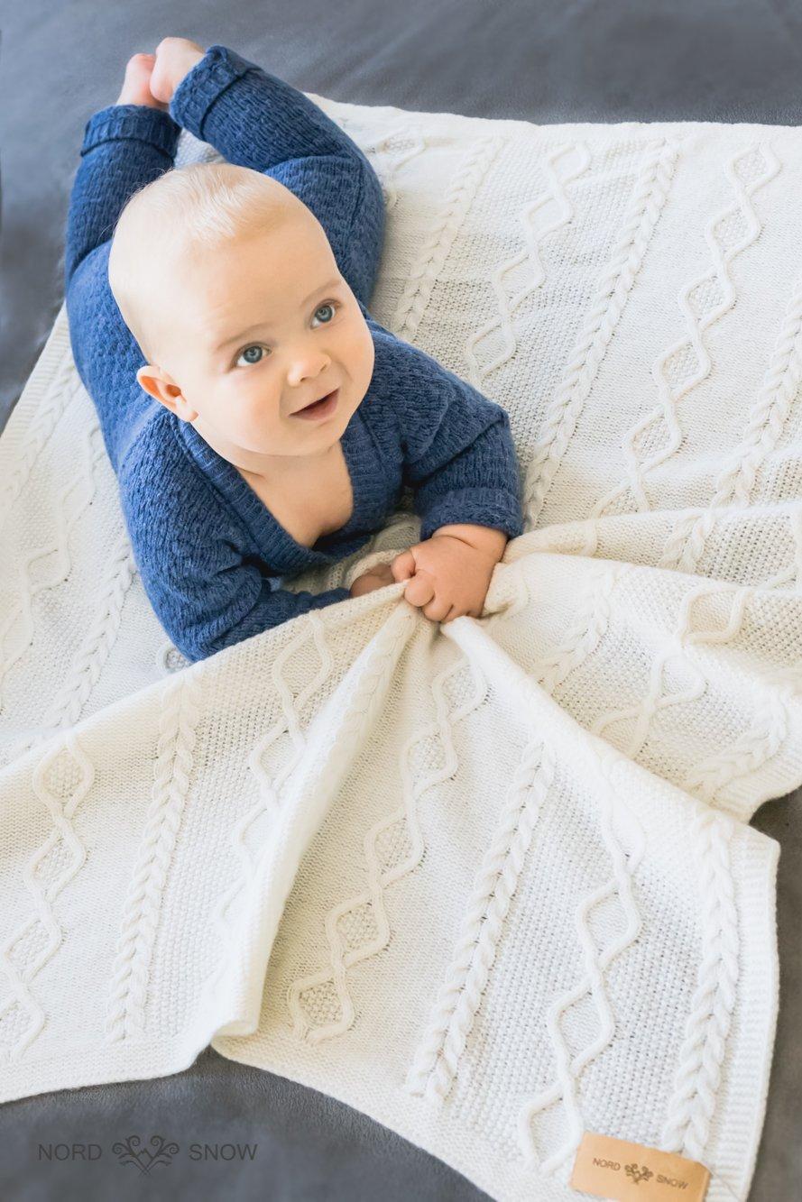 fabriqu/é en Europe 100/% laine m/érinos coton tricot/é par NordSnow anti-allergique et tr/ès doux cr/ème