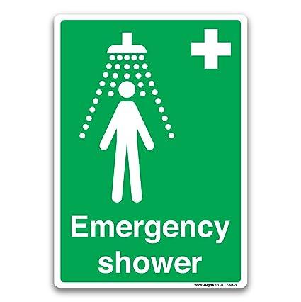 Estándar británico primeros auxilios cartel adhesivo de ...