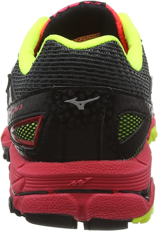 Mizuno Wave Mujin Wos, Zapatillas de Trail Running para Mujer, Negro/Frambuesa/Amarillo Flúor, 38.5 EU: Amazon.es: Zapatos y complementos