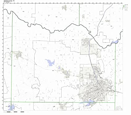 Amazon.com: Wichita County, Texas TX ZIP Code Map Not ...