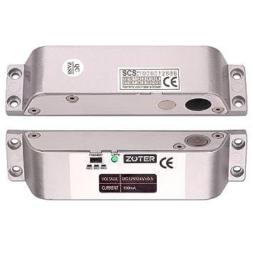 Electric pestillo de la cerradura de la puerta zoter cerrojo superficie de baja temperatura montado DC 12 V Fail Safe NC modo: Amazon.es: Bricolaje y ...