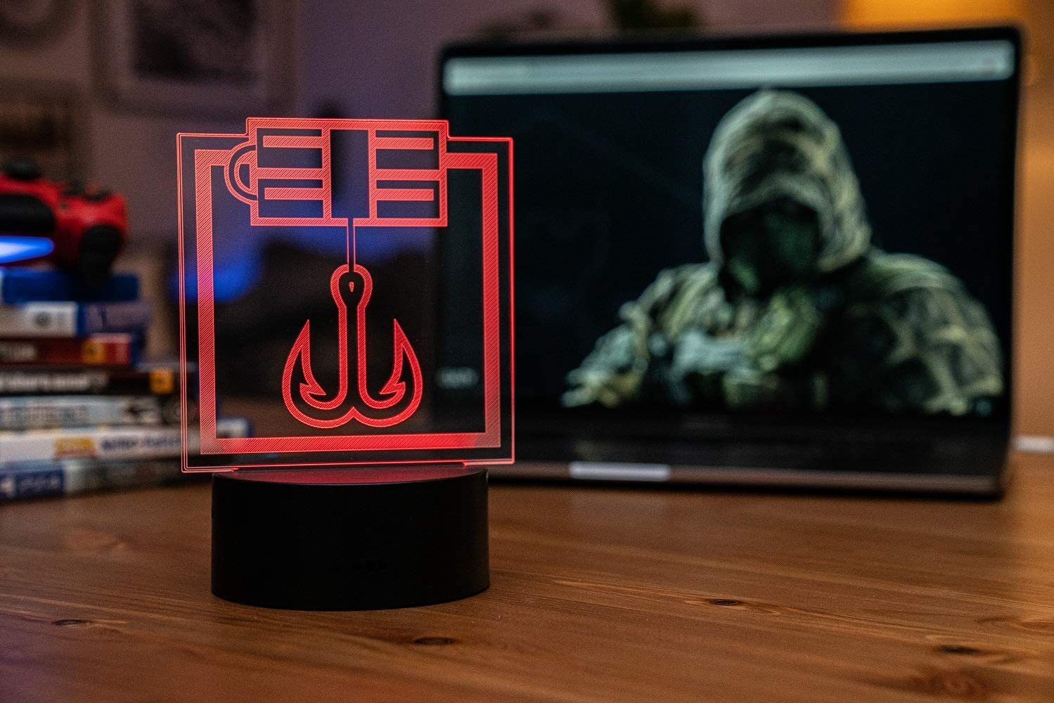 Six Siege LED Lamp - KapKan Operator - Rainbow Six Siege Decor for The Bedroom or Gaming Studio - Color Changing LED Nightlight Great for Cosplay Photoshoots with Any R6 Character