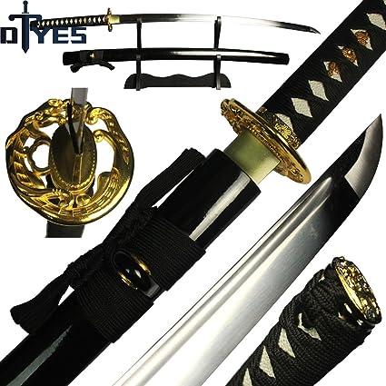 Samurai Japanese Tanto Bamboo Sword 1060 High Carbon Steel Full Tang Blade Sharp