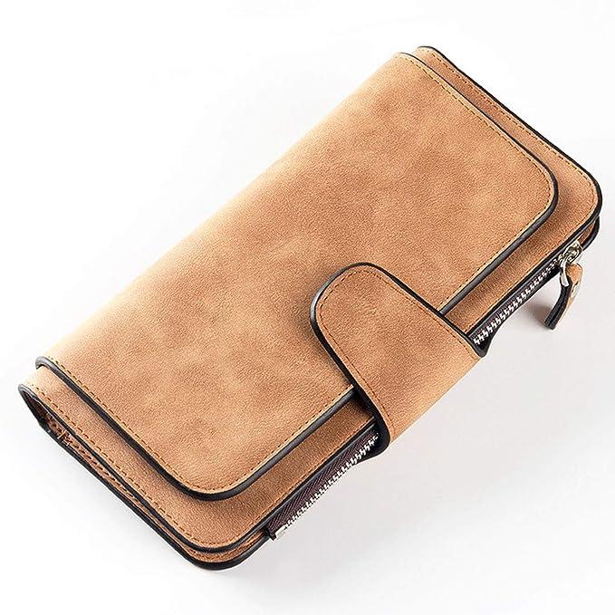 Amazon.com: Famous Wallets - Cartera de piel larga para ...