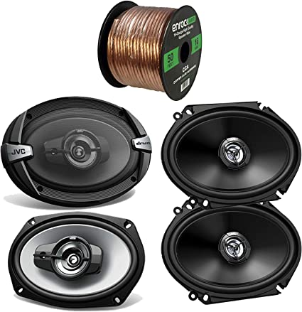 "New Pair JVC CS-DR6820 6x8/"" 300 Watt 2-Way Car Audio Door Speakers"