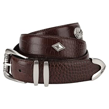 ed61c04052966a Greg Norman Men's Concho Belt, Brown, 40: Amazon.co.uk: Sports & Outdoors
