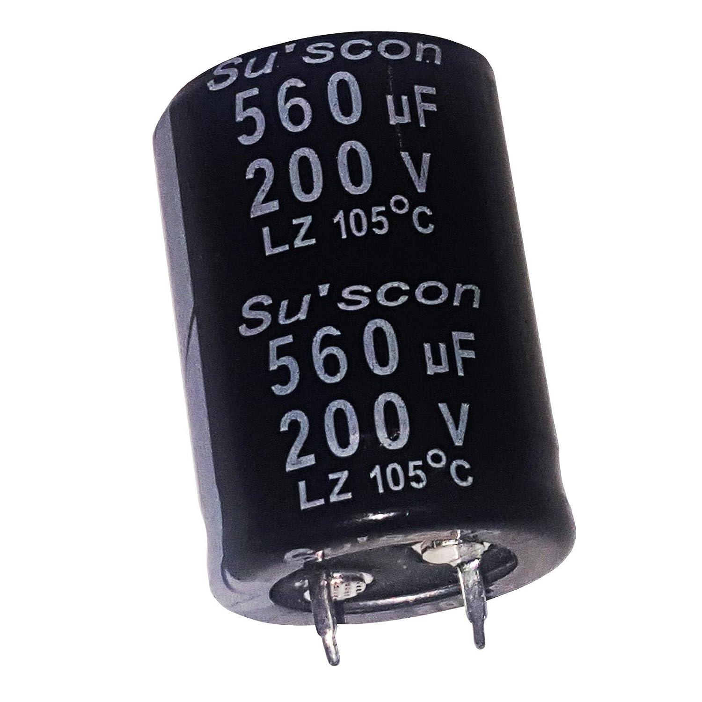 2/x 560uF 200/V elektrolytisch Radial Kondensator 105/C