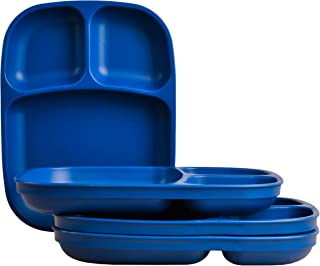 "product image for Re-Play Recycled Products, Set of 4 (10"" Divided Tray, Navy Blue)"