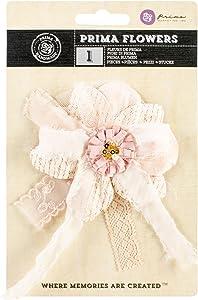 Prima Marketing Marmalade Avalon Fabric Flower Bow, 4-Inch