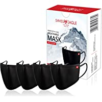 SWISS EAGLE HEIQ VIROBLOCK 6 Layer Super Soft Face Mask Respirator For Bacteria, Germ & Pollution Protective Filter With…