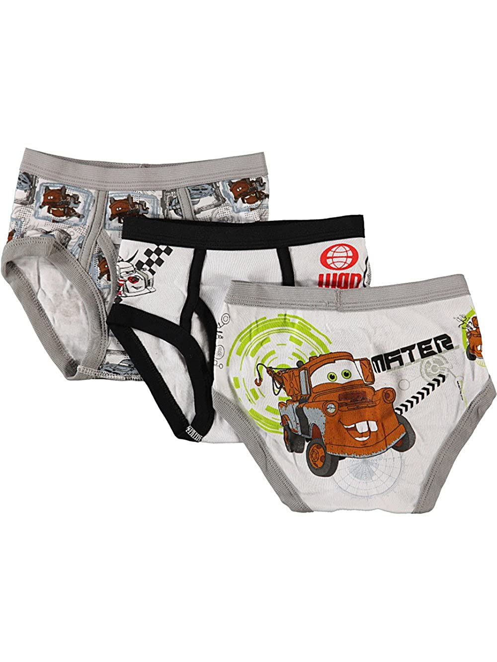 Disney Cars Little Boys' Toddler Checkered Flag 3-Pack Briefs 2t - 3t 00_MBXRUYWO_SF