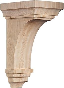 3 1//2W x 3 3//4D x 6H Ekena Millwork CORW03X03X06JERO Wood Corbel Red Oak