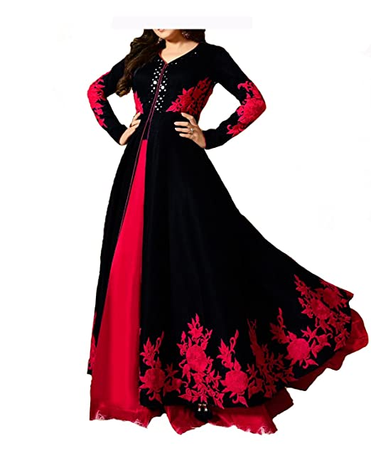 Royal Export Women s Anarkali Gown (Royal Black Gown Black Free)  Amazon.in   Clothing   Accessories 65e8dac45