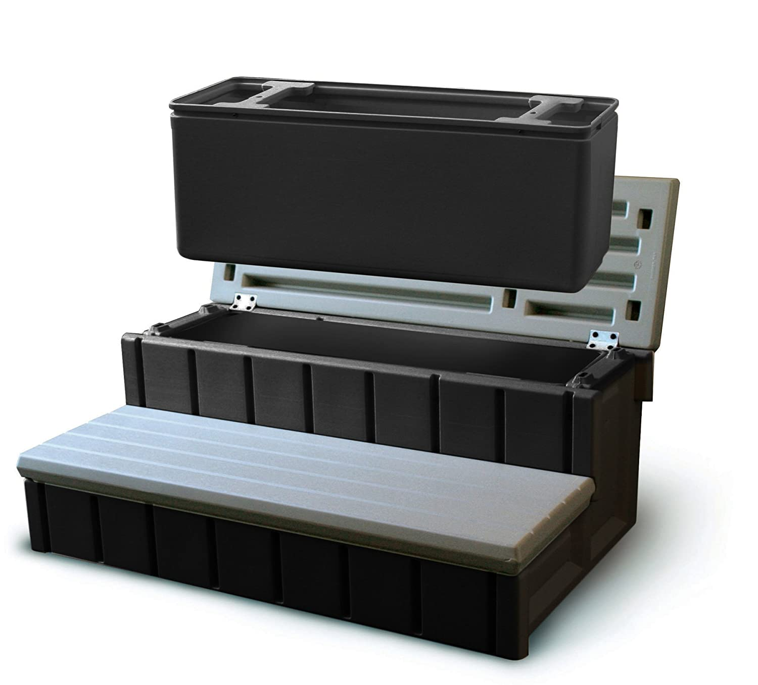 Confer NP5653 Plastics Spa Step with Storage, Gray