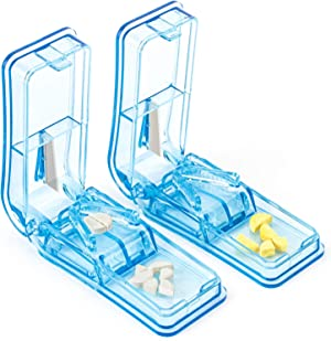 2PCS Pill Cutter, Professional Pill Splitter for Cutting Small Pills or Large Pills in Half