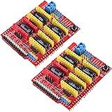 HiLetgo 2pcs A4988 V3 Engraver Drive Shield 3D Printer CNC Drive Expansion Board for Arduino 3D Printer CNC