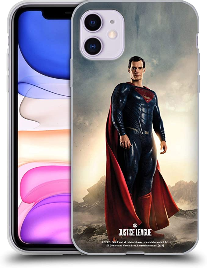 Amazon.com: Head Case Designs Officially Licensed Justice League Movie Superman Character Posters Soft Gel Case Compatible with Apple iPhone 11