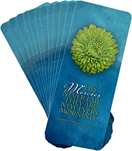 His Mercy - Oversized Inspirational Bookmark (Pack of 12) - His Mercies never fail, they are new every morning. Lamentations 3:22,23