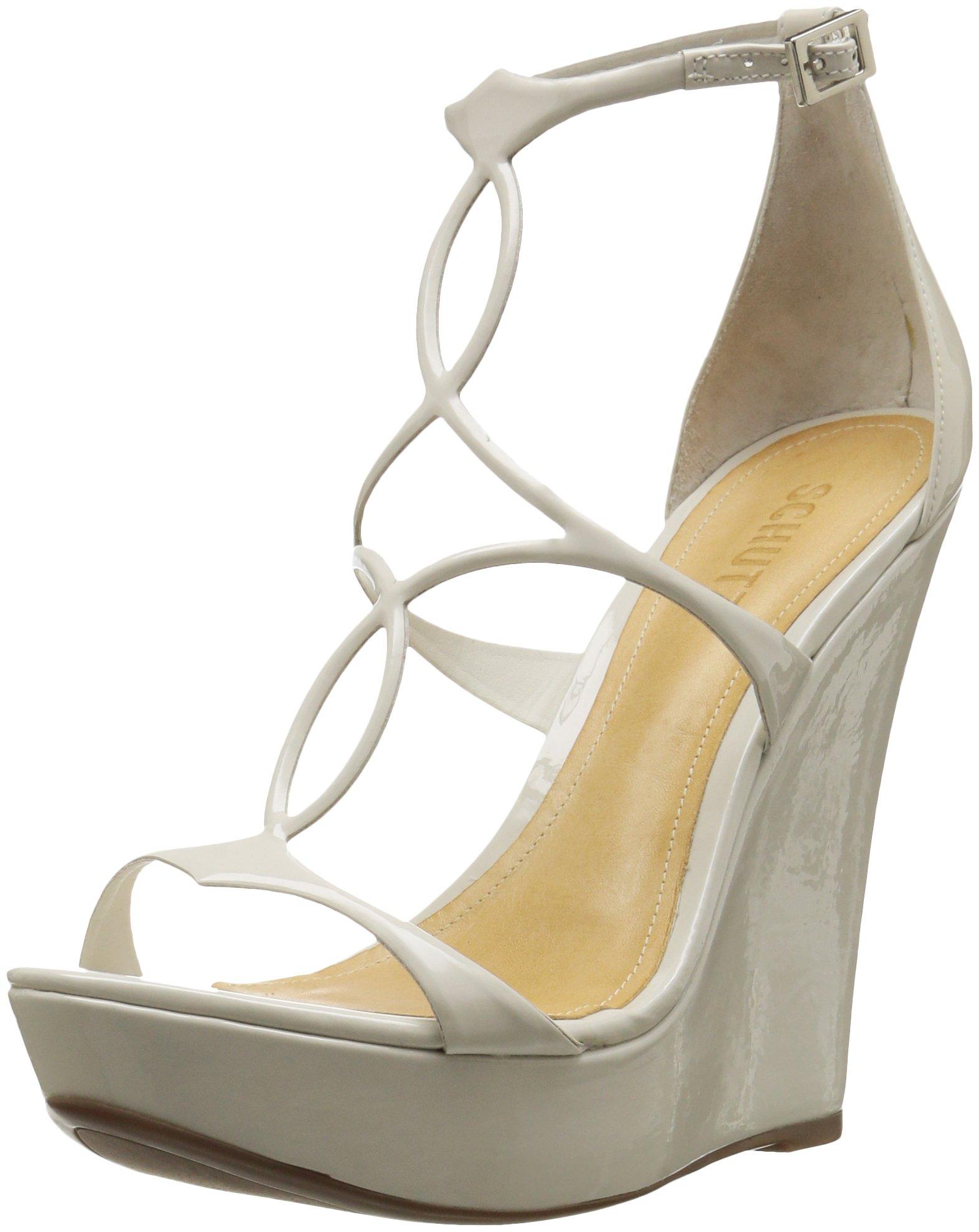 Schutz Women's Sevil Wedge Sandal, Pearl, 8.5 M US