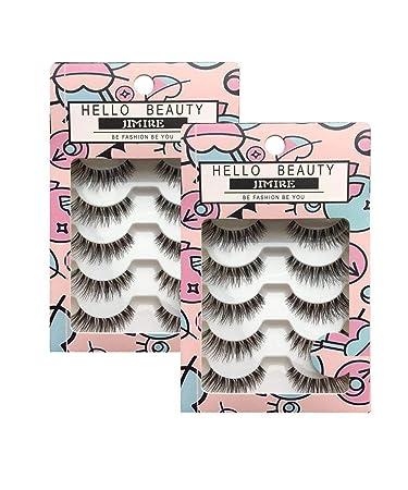 459261fc2d5 Amazon.com: JIMIRE Fake Eyelashes Natural Multipack Lashes False Eyelashes  2 Packs: Beauty