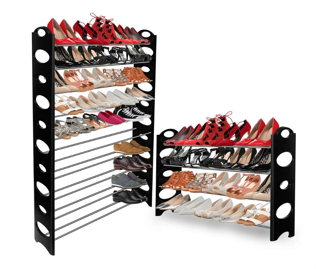 Amazoncom Shoe Rack For 50 Pair Wall Bench Shelf Closet Organizer