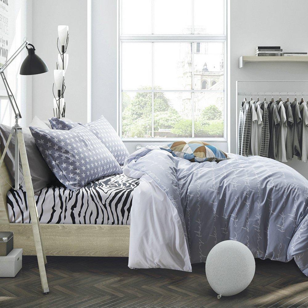 Amazoncom Vougemarket 3 Pieces Duvet Cover and Pillow Shams