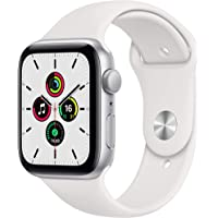 2020 Apple Watch SE (GPS, 44-mm) kast van zilverkleurig aluminium - Wit sportbandje