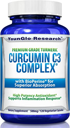 Curcumin C3 Complex with BioPerine – Powerful Health Benefits – Non-GMO Vegetarian Tumeric Capsules 1 Pack