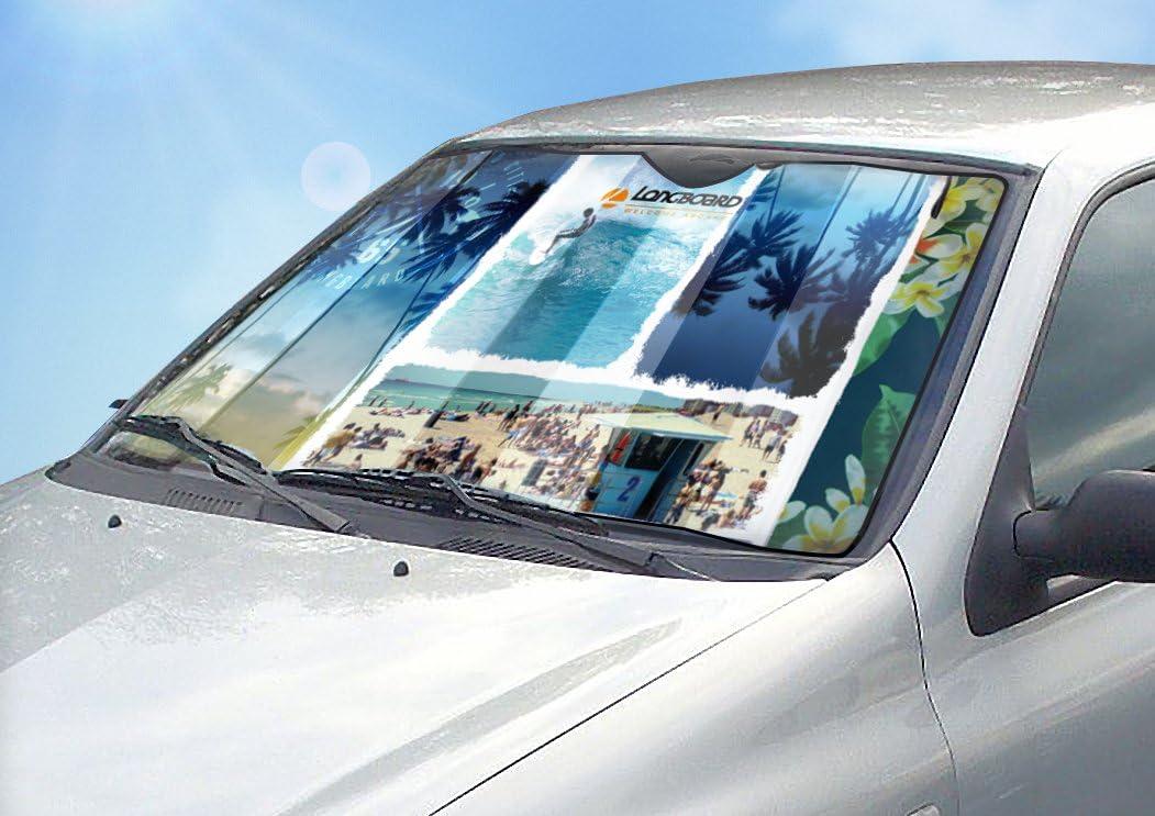 Aluminium Longboard 078080 isolierend Sonnenblende f/ür die Windschutzscheibe M