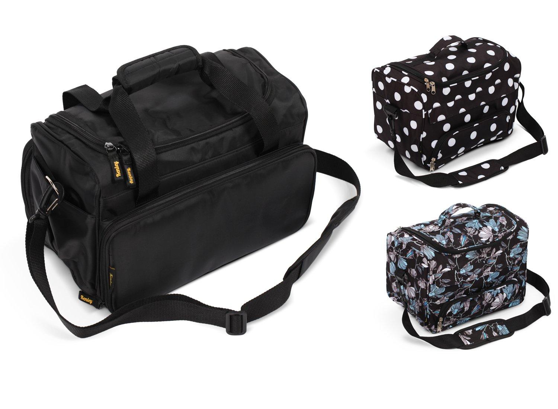 Kenley Professional Hairdressing Hair Salon Styling Tools Carry Case Bag Organizer - Prestige Black