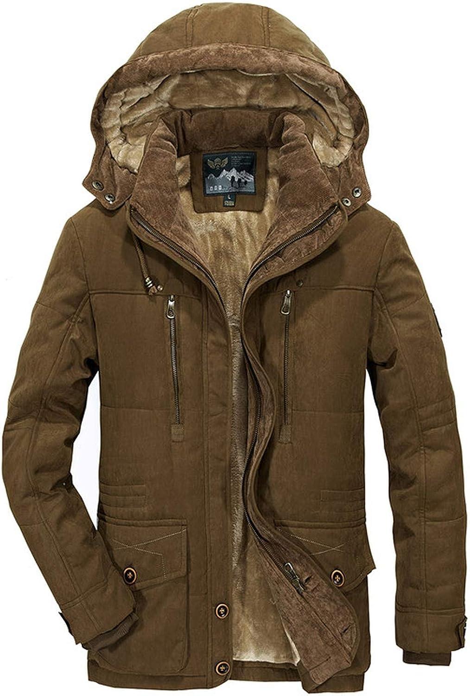 Winter Jacket Middle Age Men thjck Warm Coat Jacket Mens Casual Hooded Coat Jacket
