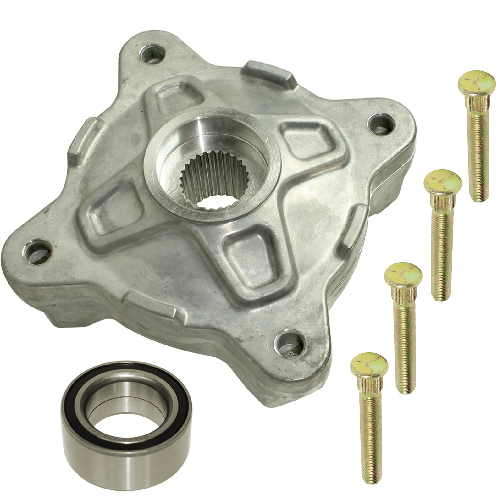CALTRIC FRONT WHEEL HUB w/STUDS and BALL BEARING Fits POLARIS RZR S 800 EFI 2009-2014