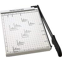Cortador de papel A4 para papel con base de metal resistente, para papel cuadriculado de guillotina de 13 pulgadas…