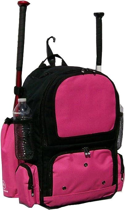 Youth Baseball Softball Bat Backpack in Black and Purple Chita CY Small Maxops