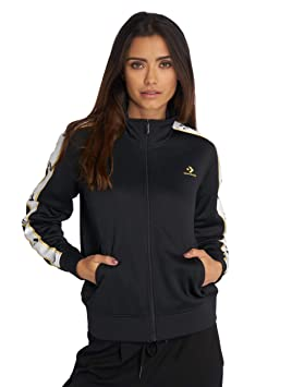 Converse Star Chevron Track Jacket Blk Veste, Femme, Noir
