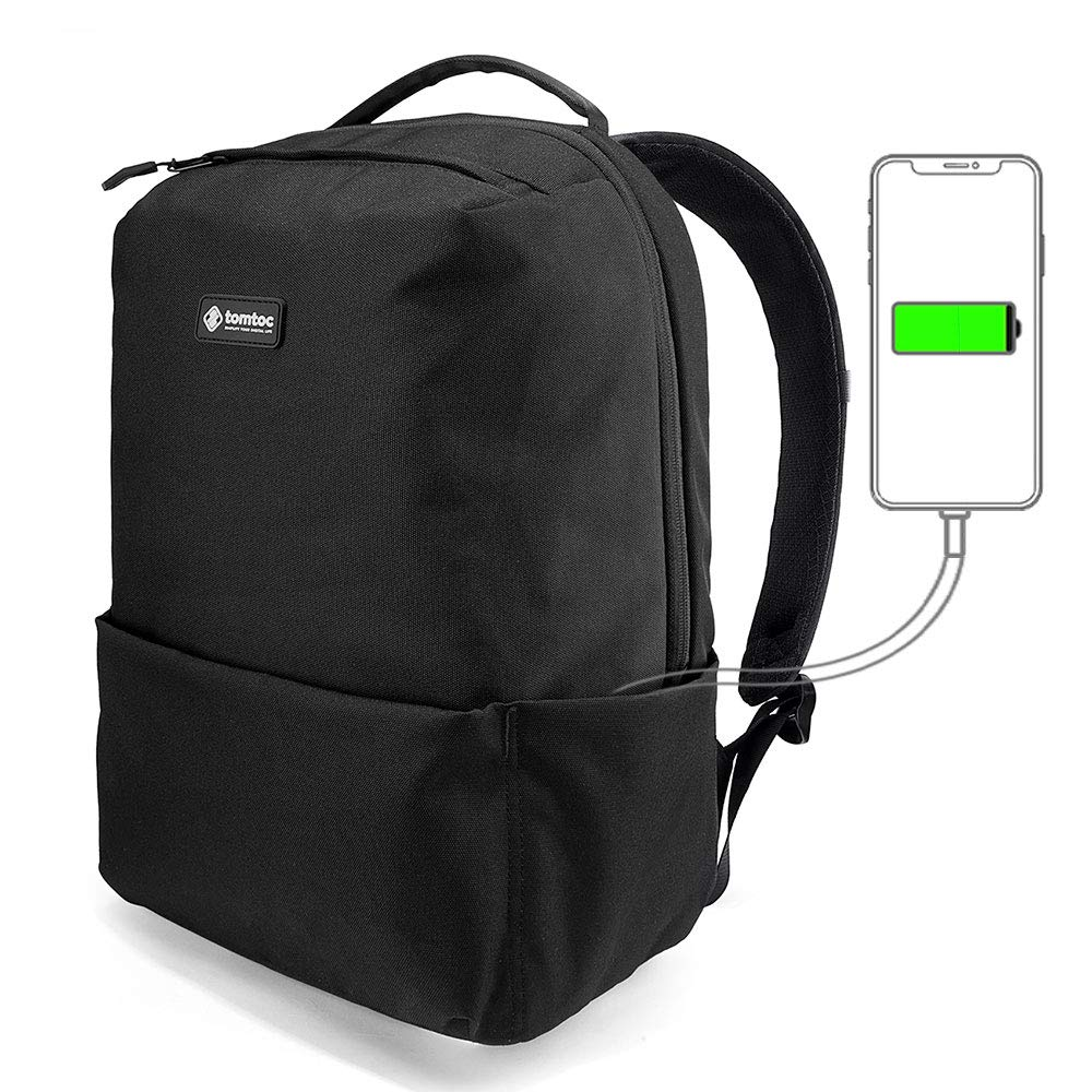 14f4c7fb32 tomtoc Zaino per Pendolarismo Unisex Leggero per Laptop Fino a 15.6 Pollici  Tracolla per Viaggi d'Affari con Tasca Antifurto, con Presa Ricarica USB e  ...