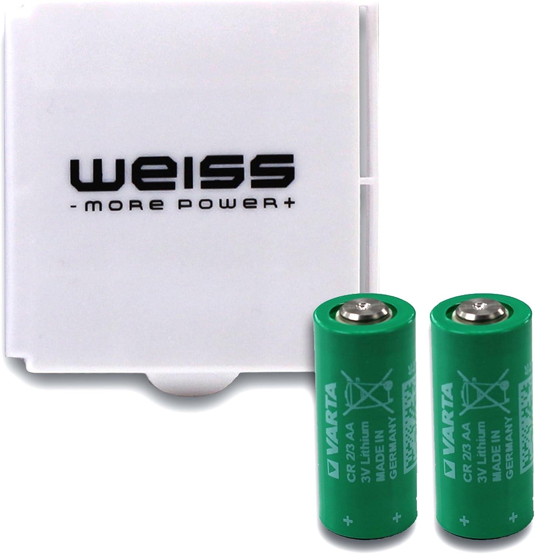Varta CR 2/3 AA 2 x Litio con 3 V/1.350 mAh en Caja de batería – More Power + Color Blanco: Amazon.es: Electrónica