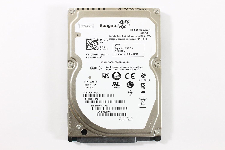 """Dell XDNFF ST9250410AS 2.5"""" SATA 250GB 7200 3.0 Gb/s Seagate Laptop Hard Drive Latitude E6410"""