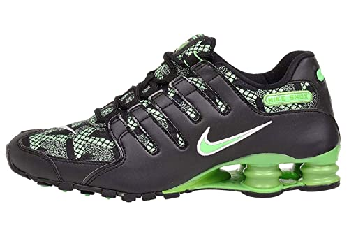 new product 2fed4 3fe52 Nike Shox NZ SE JCRD Black Green Pulse Running Shoes sz 10