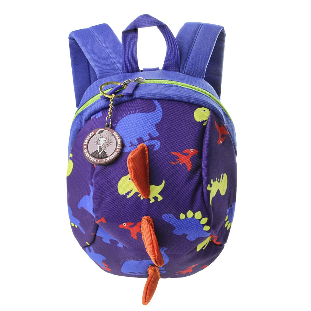 Kids Toddlers Cute Dinosaur Walking Safety Harness Backpack Baby Walkers Bag with Safety Reins Belts Travel Bag Cartoon Nursery School Bag for Baby Boys Girls Green