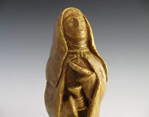 St. Monica Patron of Mothers of Strong-Willed and Occasionally Difficult Children Handmade Statue