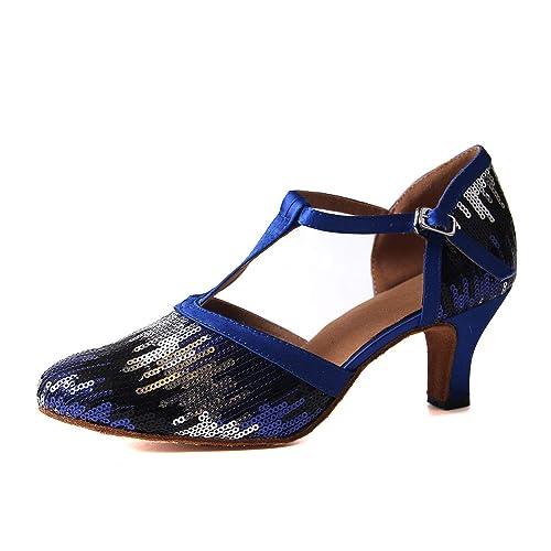 Syrads Zapatos de Baile Latino para Mujer Salsa Zapatos de Baile de Salón Tango Samba Vals: Amazon.es: Zapatos y complementos