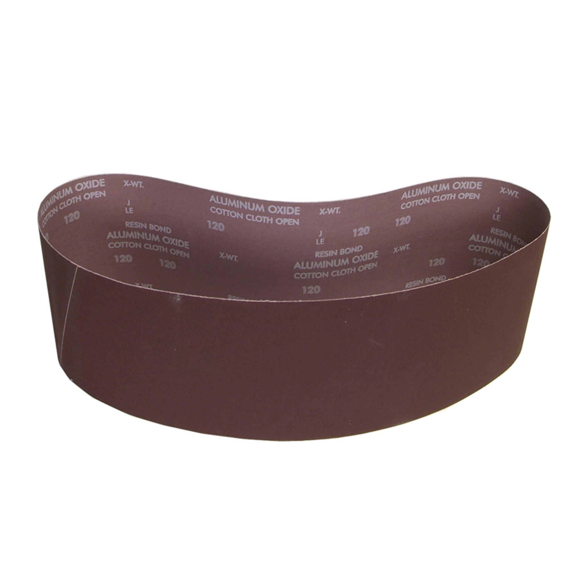 Norton 78072727987 BenchStand Abrasive Belt, Cotton Fiber Backing, Aluminum Oxide, 48'' Length x 6'' Width, Grit 36X Extra Coarse (Pack of 10)