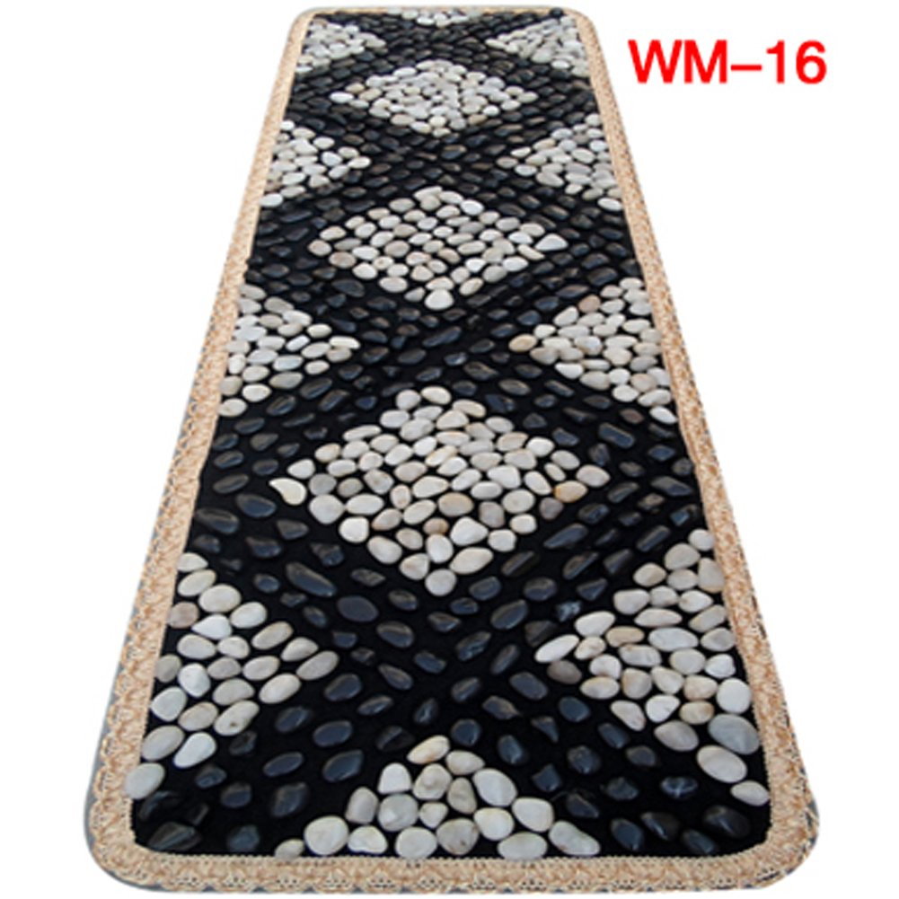 EliteShine Massage Mat Christmas Gift for Daddy New Year Gift for Mom Health Care Pad Bathroom Mat Kitchen Rug Foot Massage Leg Massage Garden Pave Way Natural Pebble Stones Mat by EliteShine